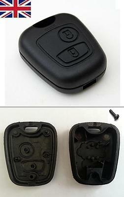 New UK Stock 2 Button Remote Key Fob Case Shell Cover Repair for Peugeot 206
