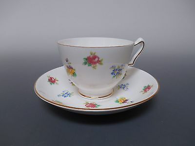 Crown Staffordshire Floral Sprays Cup and Saucer Vintage