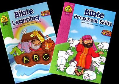 2 x BIBLE 96 Page Educational Religious Activity Books Sunday School Free Post