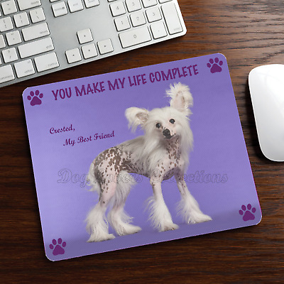 New Design Adorable CHINESE CRESTED Dog Puppy Rubber Computer MOUSE PAD Mat