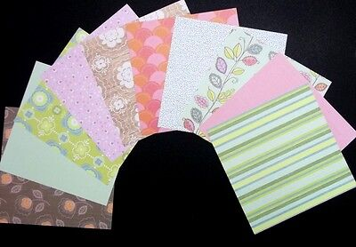"*FLORAL BOUQUET* x 10.. Scrapbooking/Cardmaking Papers - 15cm X 15cm (6"" x 6"")"