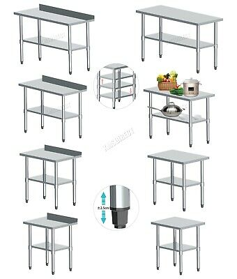 FoxHunter Stainless Steel Commercial Catering Table Work Bench Kitchen Top New