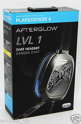 Afterglow LVL 1 Chat Gaming Headset with Mic for Sony Playstation 4 PS4 - NEW
