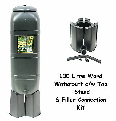 Ward Garden Green Plastic 100 Litre Water Butt Kit - Stand Tap & Connection Set