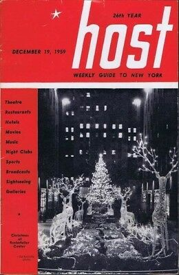 Host, Weekly Guide To NY, December 19, 1959, w/ map vintage entertainment