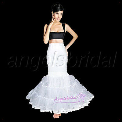 Mermaid Trumpet Fishtail Hoopless Bridal Wedding Petticoat Crinoline Skirt Slip