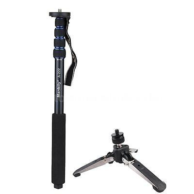 Telescopic Aluminium Monopod Stand with Tripod Base for DSLR Camera & Camcorder