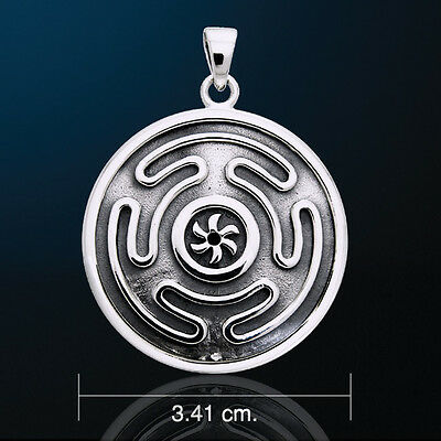 Goddess Hecate Hekate Wheel Silver White Bronze Pendant Oberon Zell #WZPD1979