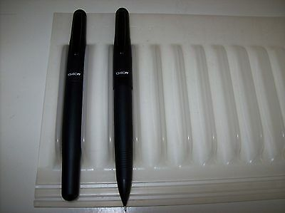 TOMBOW OBJECT BLACK FOUNTAIN PEN AND PENCIL SET new