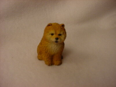 CHOW red puppy TiNY DOG Figurine HAND PAINTED MINIATURE Collectible Mini Statue