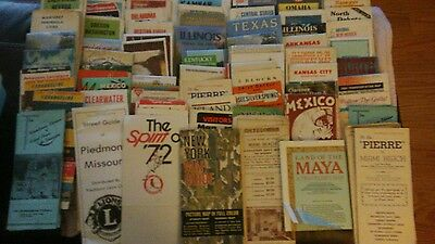 Official State Highway Road Map Aaa Gas Citiy Travel Brochures