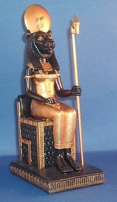 Sekhmet Sehkmet Statue Egyptian Lion Black and Gold Ancient Mother Goddess #7291