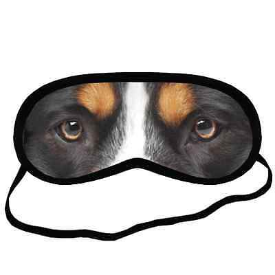 New Design Adorable BERNESE MOUNTAIN EYES Dog Puppy Comfort SLEEPING MASK Cover