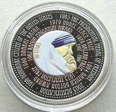 Cameroon 2012 Mother Theresa 100 Francs Crown Bimetal Coin,Prooflike