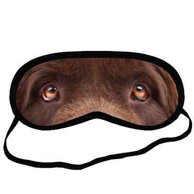 Cute Brown NEWFOUNDLAND EYES Dog Puppy Small-Med Size SLEEP MASK Gift Cover