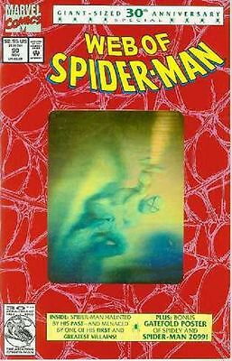 Web of Spiderman # 90 (gold hologram, 52 pages, 2nd printing) (USA, 1992)