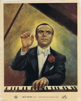 RCA Red Seal Artist Poster, Jose Itubiu, Pianist, 1940's