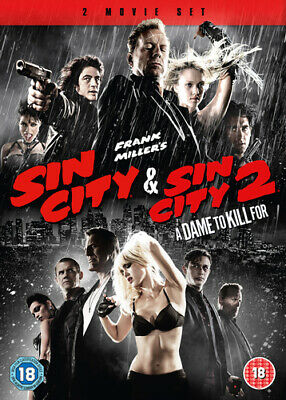 Sin City/Sin City 2 - A Dame to Kill For DVD (2014) Bruce Willis ***NEW***