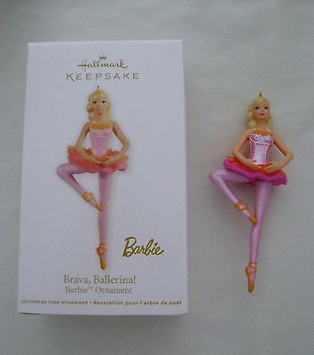 "2012 HALLMARK KEEPSAKE ORNAMENT ""BRAVA, BALLERINA!"" BARBIE ORNAMENT - NEW IN BOX"