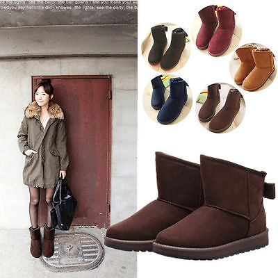 2015 New Women Bowknot Winter Warm Ankle Snow Boots Shoes 5 Colors 5 Sizes