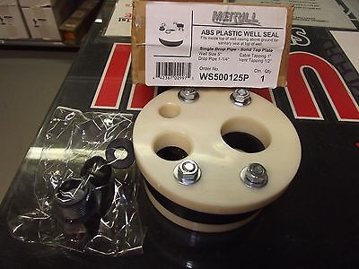 """New 5"""" Sanitary Water Well Seal 1 1/4"""" Drop Pipe"""