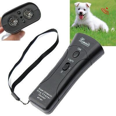 Ultrasonic Dogs Chaser Repeller Stop Aggressive Animal Attacks With Flashlight