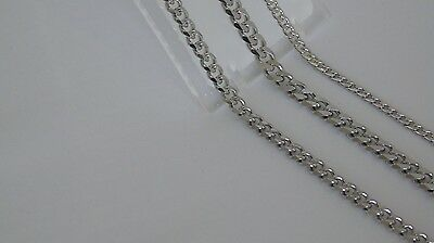 """MENS CURB LINK NECKLACE STAINLESS STEEL.22""""4mm..24"""" 3-4-6mm"""