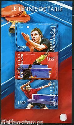Central Africa  2015 Table Tennis Sheet Mint Nh