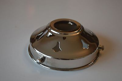 Classic Antique Style Chrome Glass Light Shade Gallery 3 1/4 Inch Lamp Shade Nr4