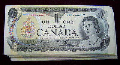 BANK OF CANADA 1973 $1 NOTES BC-46b   NiceAU+ to UNC 10 PCS LOT