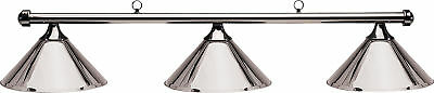 HJ Scott Gunmetal Bar/Gunmetal Metal Shade Billiard Pool Table Light