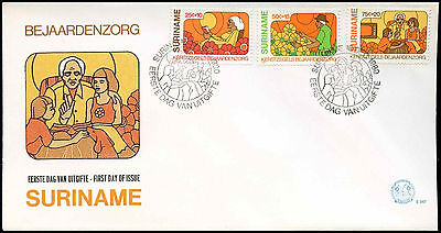 Suriname 1980 Welfare Of The Aged FDC First Day Cover #C30219