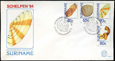 Suriname 1984 Sea Shells FDC First Day Cover #C30259