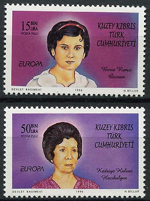 Cyprus Turkish Cyriot Posts 1996 SG#426-7 Europa, Famous Women MNH Set #A96458