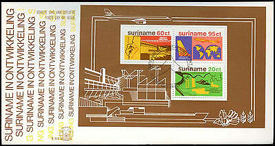 Suriname 1978 Development M/S FDC First Day Cover #C30191