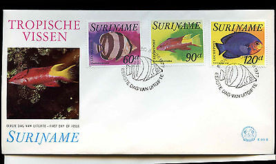 Suriname 1977 Fishes FDC First Day Cover Set #C30178