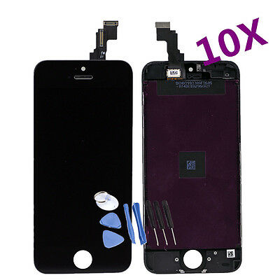 Wholesale 10x Digitizer LCD Touch Screen Replacement Assembly Black iPhone 5C