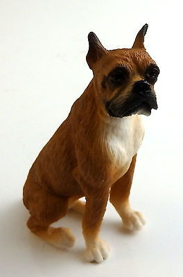 Dolls House Falcon Miniature Animal 1:12 Scale Pet Dog Boxer Sitting