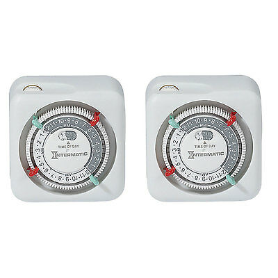 Intermatic TN111K 125 VAC 15A 24 Hour Indoor Premium Electronics Timers, 2-Pack