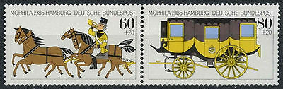 West Germany 1985 SG#2104-5 Stamp Exhibition MNH Pair Set #D137
