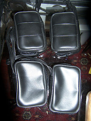old new from original schrade factory lot of 4 black vinyl black knife sheaths