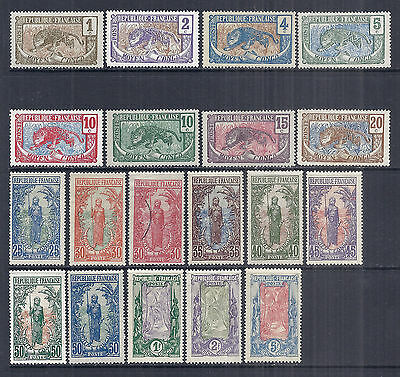 1907-1922 Middle Moyen Congo Set SC 1//22 MH & Used - Local Scenes, 19 Total*