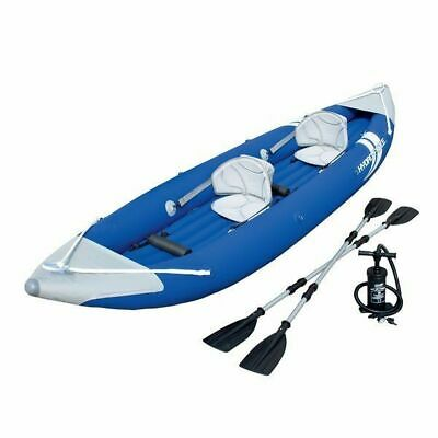 Bestway Two Person Kayak Boat Raft with Pump and Oars 65061 Inflatable