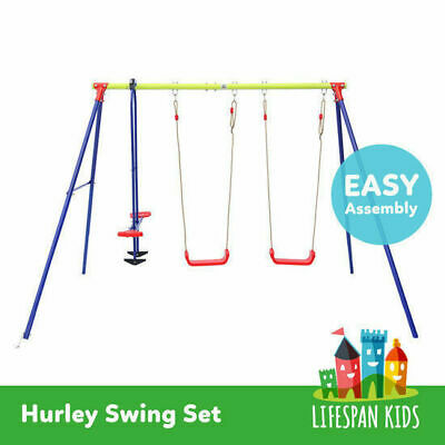 Lifespan New Kids 3 Unit Outdoor Play Equipment Toy Swing Set # Hurley