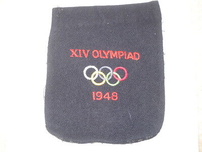 Scarce Original Xiv Olympiad 1948 Team Blazer Pocket Badge