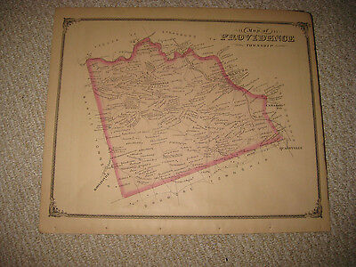 Antique 1875 Providence Township Lancaster County Pennsylvania Map West Lampeter