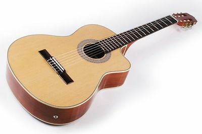 Lindo Electro-Acoustic Classical Guitar Spruce Soundboard Beautiful Tone (+Case)