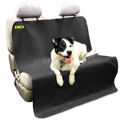 Tirol Black Waterproof Car Dog Seat Cover Cat Pet Protector Travel Auto Rear