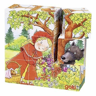 """Wooden Picture Cube Puzzle """"fairy Tales"""" Design"""