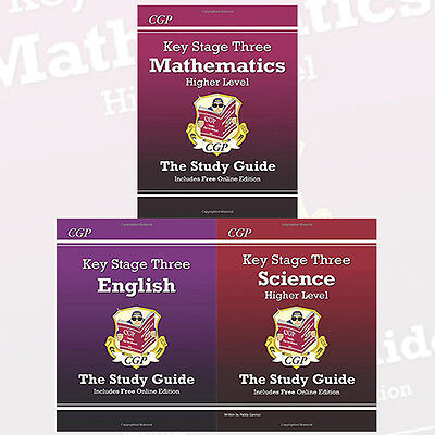 Key Stage Three Study Guide Collection 3 Books Set,Maths,English,Science NEW PB